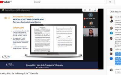 Amplia participación en charla online de Franquicia Tributaria