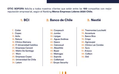 Clientes de OTIC SOFOFA lideran Ranking Merco Empresas